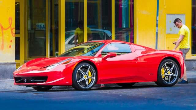 Ferrari parked on a street