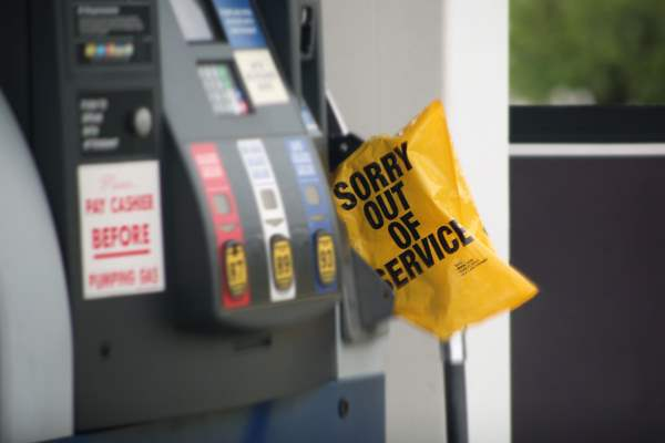 Out of Service Gas Pump