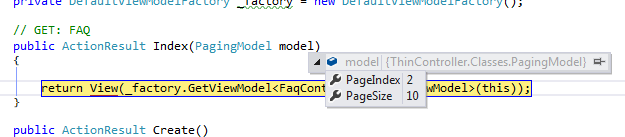 Paging Model with QueryString Values