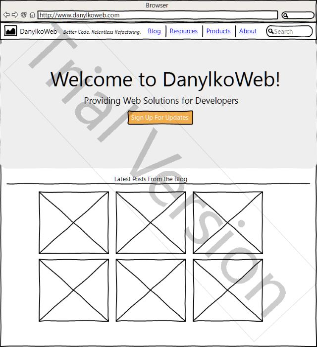 DanylkoWeb v3 Wireframe