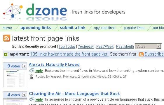 dzone Screenshot