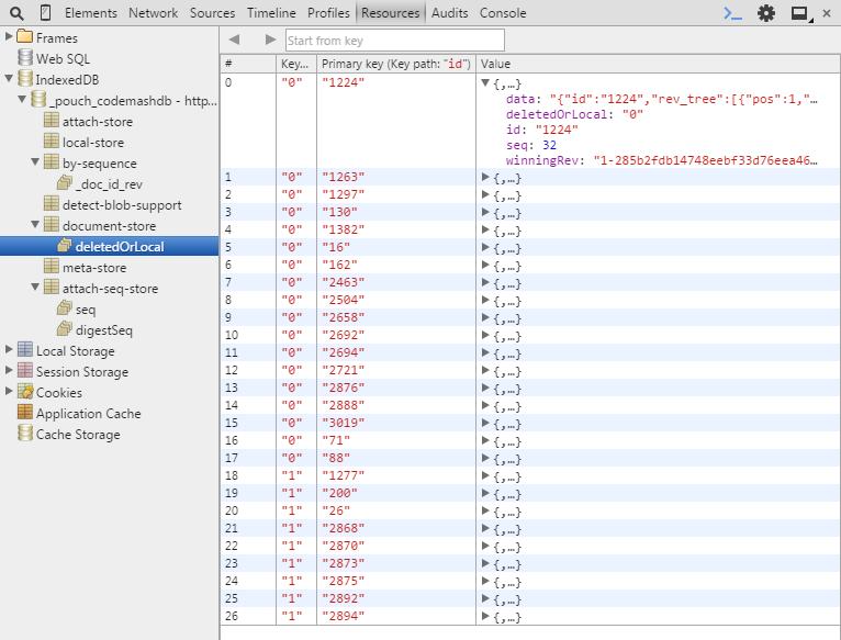 Chrome Tools with IndexedDB