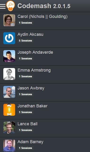 Codemash Speaker List