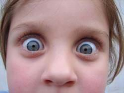 Little girl showing shock