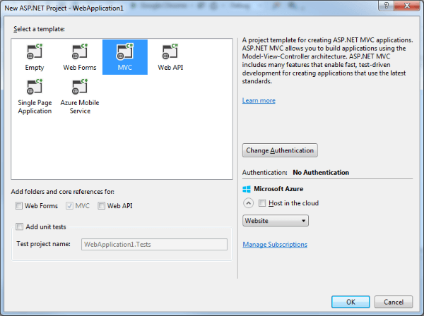 Visual Studio Project Settings