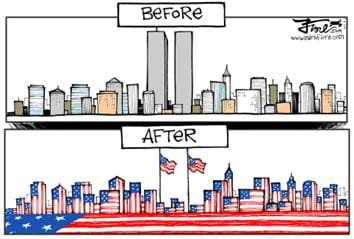 Twin Towers Before and After