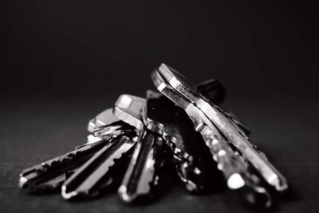 Set of keys on table