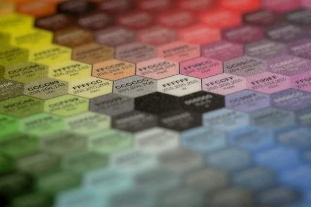 Chart of Hexadecimal Colors