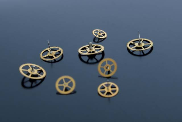 Picture of clock parts
