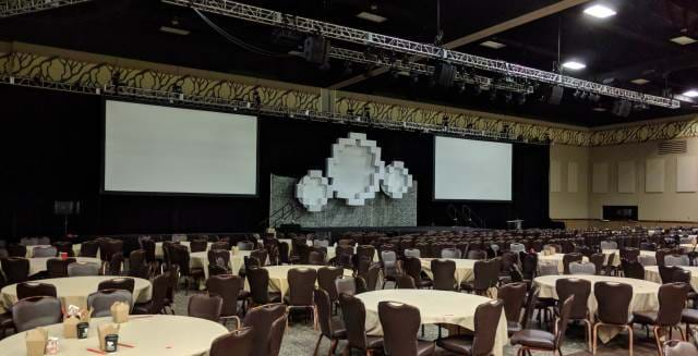 Picture of Codemash 2018 with everything taken down