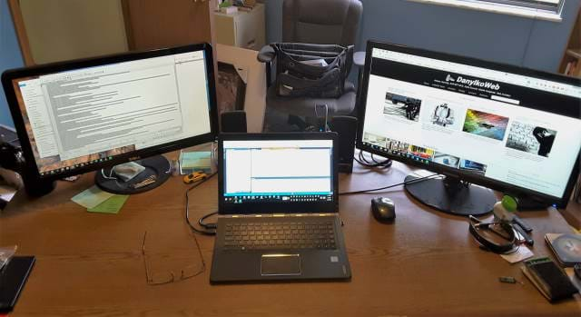Picture of my workspace before my revamp