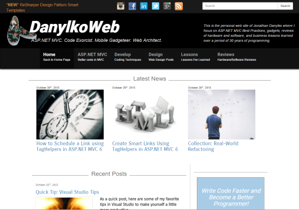 DanylkoWeb - Home Page - Year 1