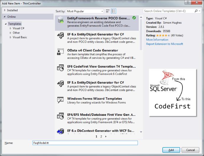 Entity Framework Reverse POCO Generator