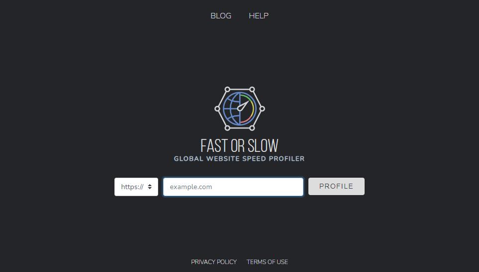 Fast or Slow Screenshot