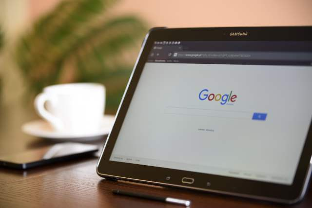 Tablet with Google Search Engine
