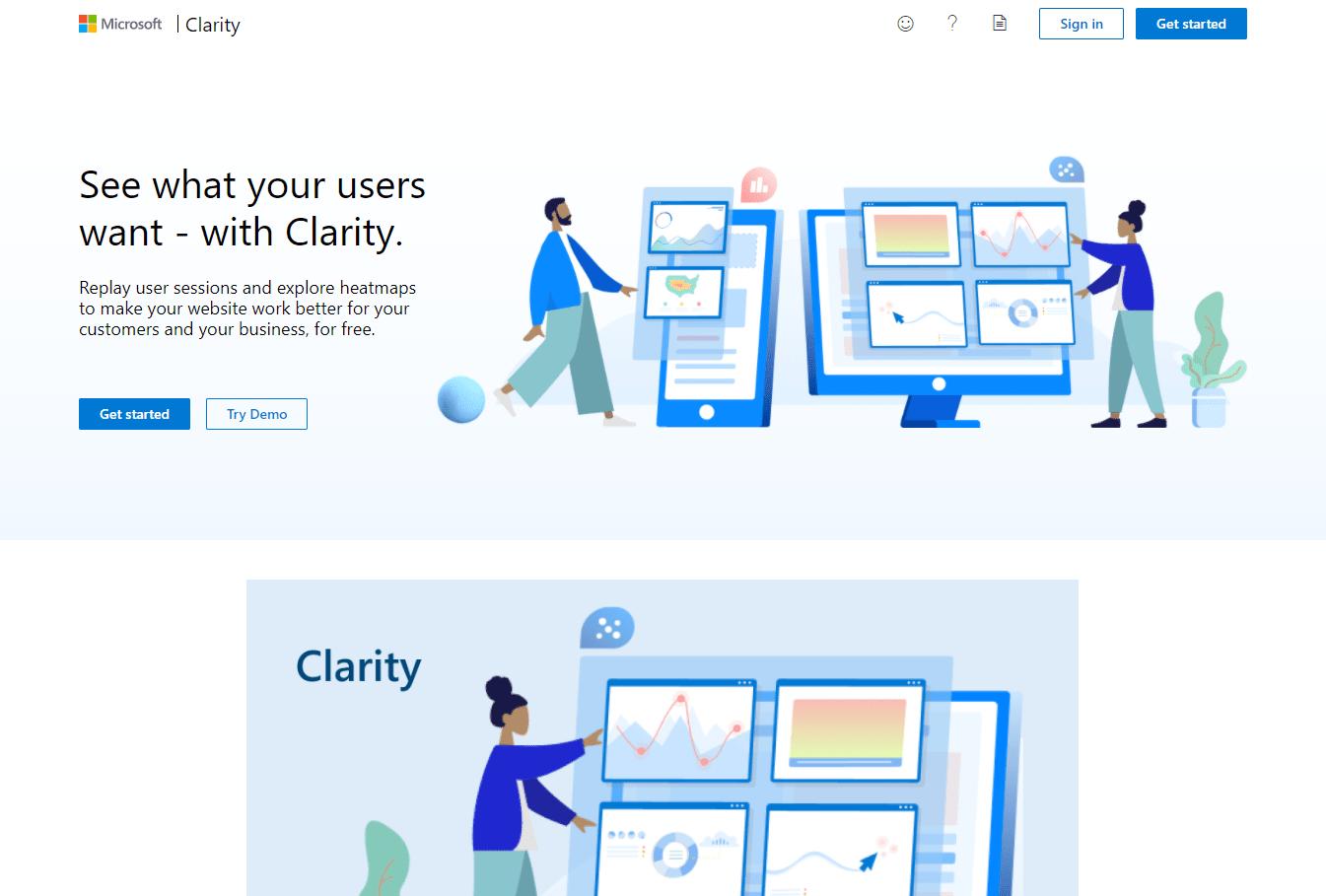 Microsoft Clarity Screenshot