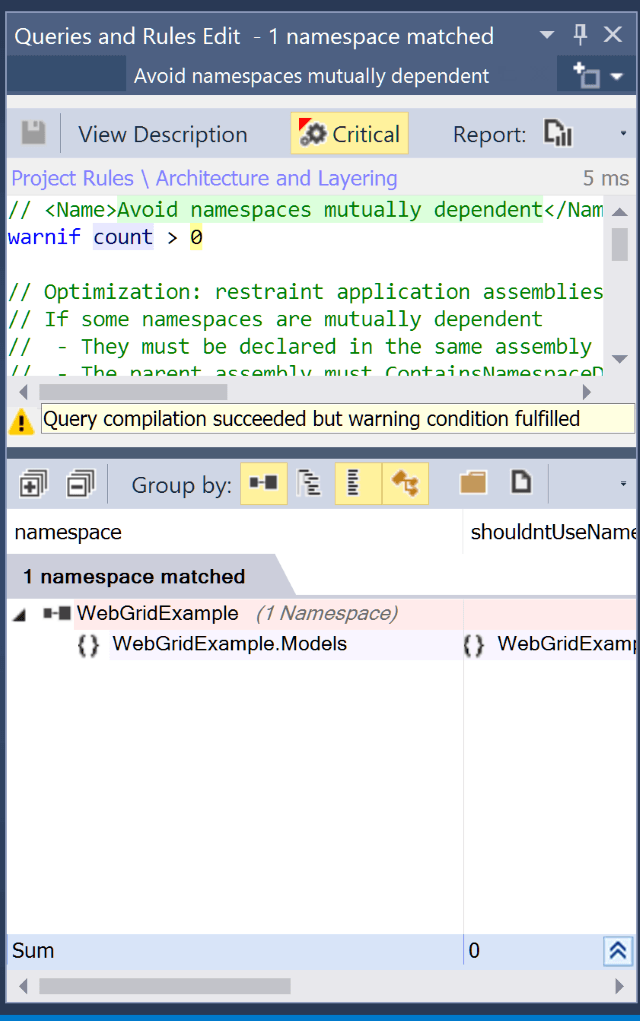 NDepend - Rules Edition Panel