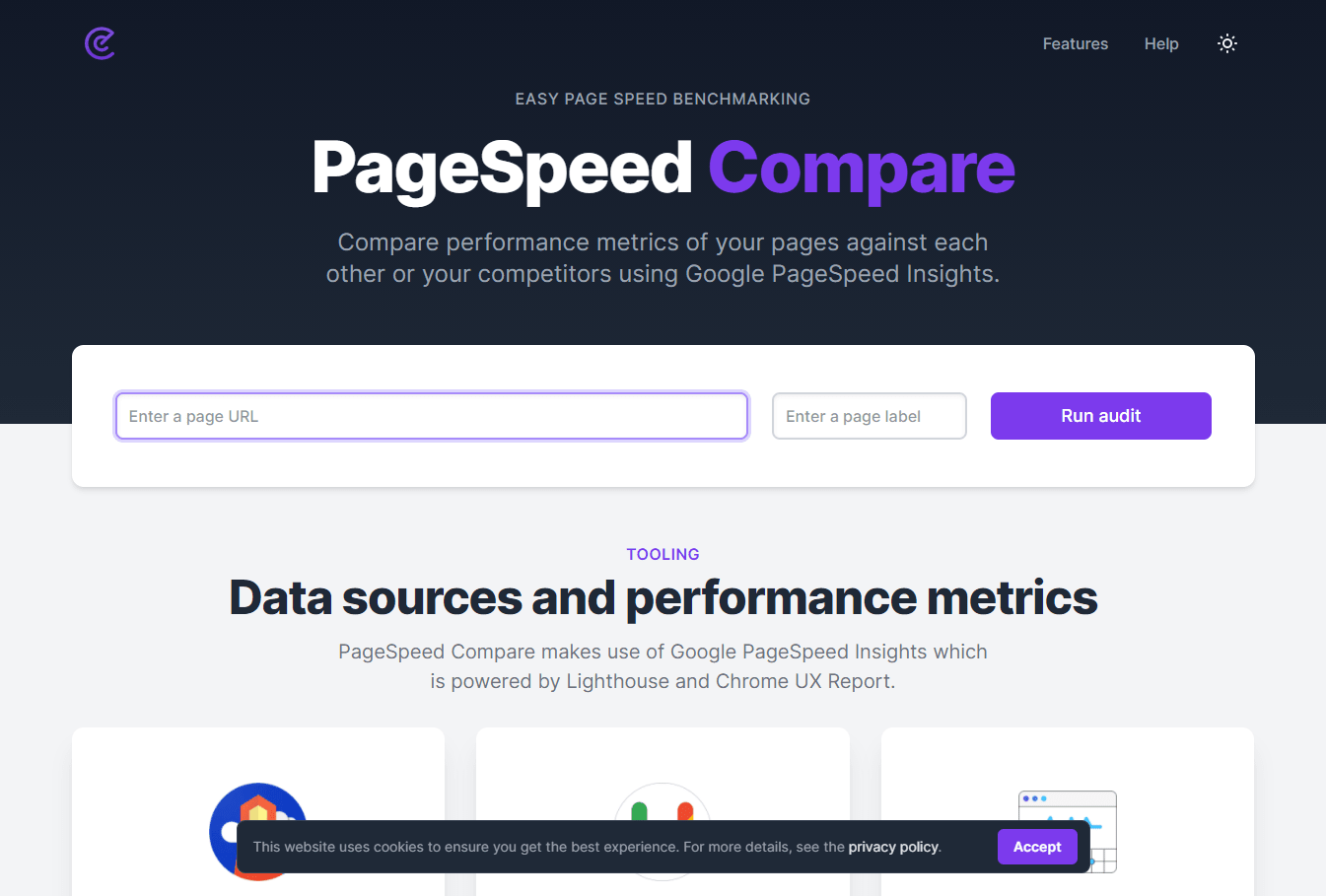 PageSpeed Compare Screenshot