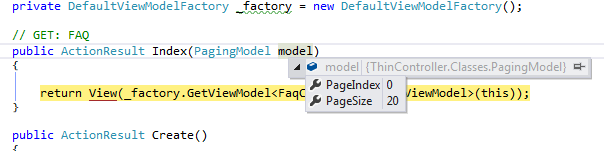 Paging Model with Default Values