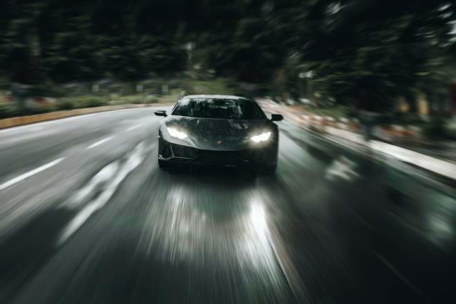 Front of a Lamborghini