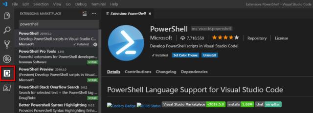 Screenshot of Powershell Install