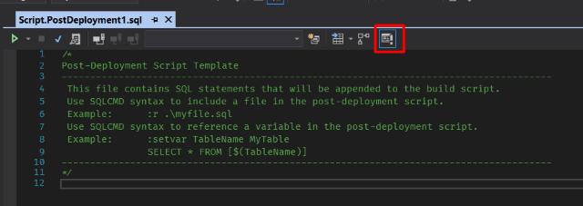 Screenshot of SQLCMD Mode