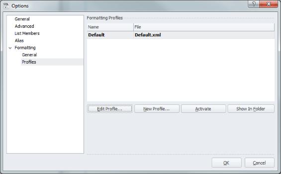 SQLComplete Profile Dialog