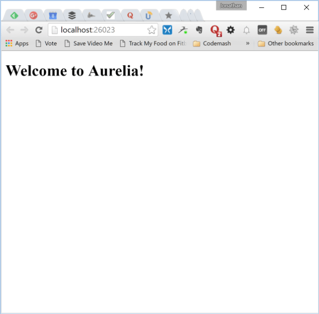 Simple Aurelia Application