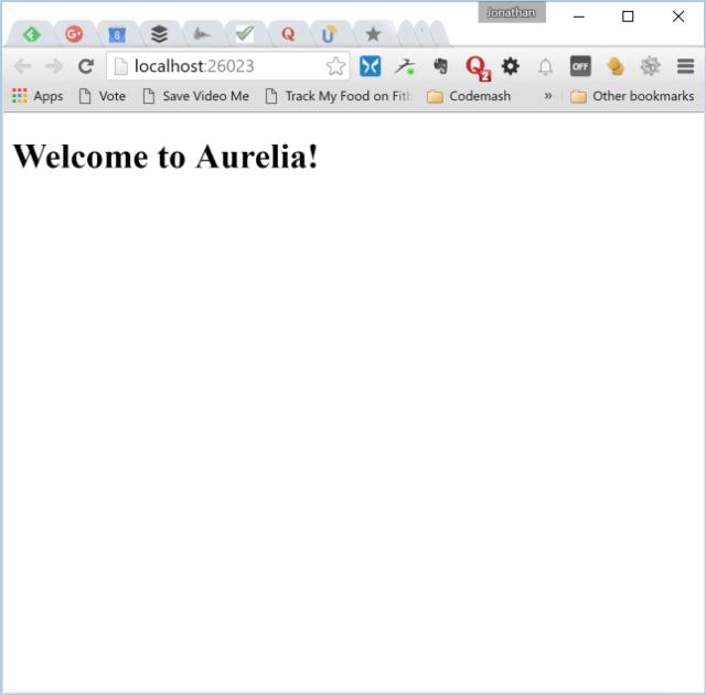 Simple Aurelia Application