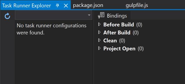 Screenshot of an unloaded configuration.