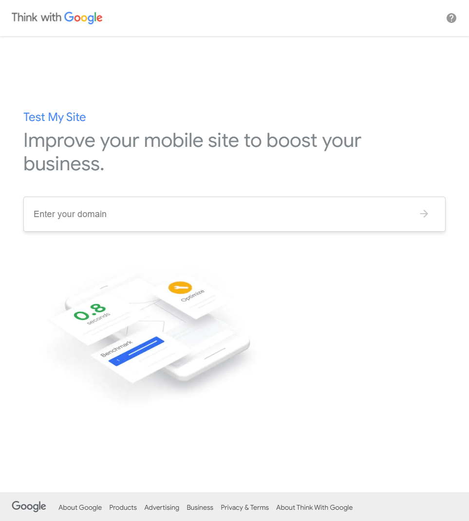Google Test My Site Screenshot
