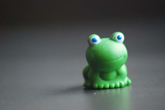 Tiny Green Plastic Frog