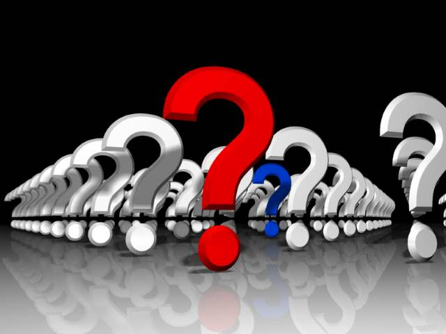 A collection of question marks
