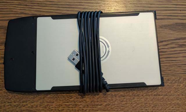 Picture of a Wekey Portable Keyboard - Back