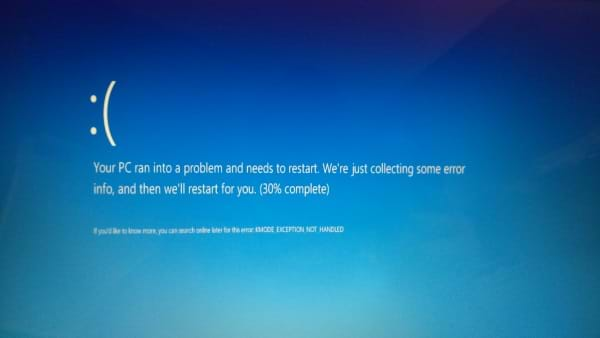 Windows 10 New Bluescreen of Death