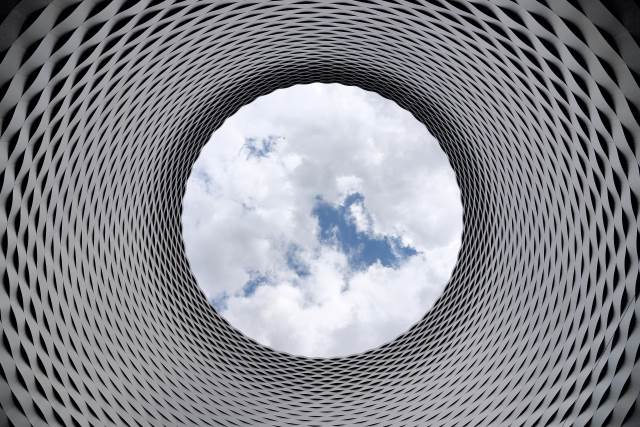Looking up at the clouds