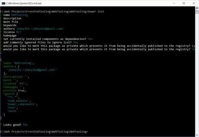 Bower Initialization Screen
