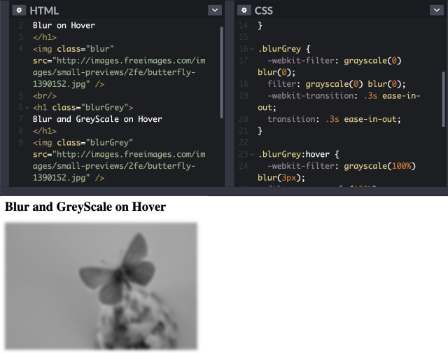 Blur image effect on hover