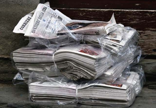 A collection of newspapers
