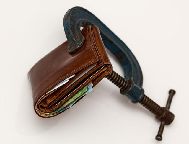 A Clamp On A Wallet