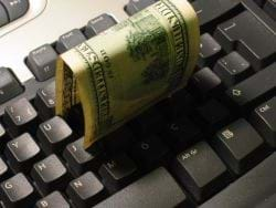 Keyboard with money