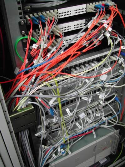 A mess of network cables