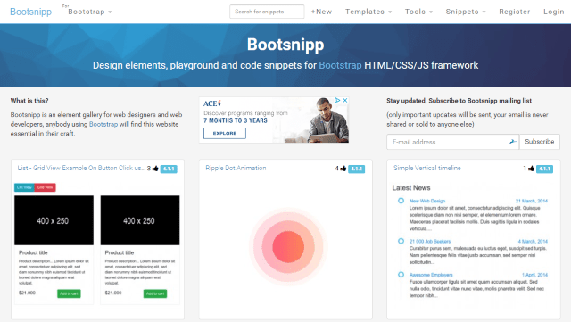Bootsnipp Screenshot