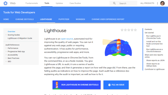 Lighthouse Screenshot