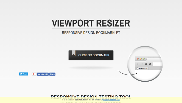 Viewport Resizer Screenshot