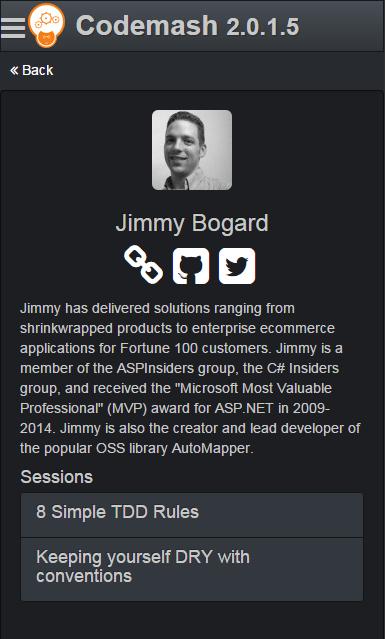 Codemash Speaker Details