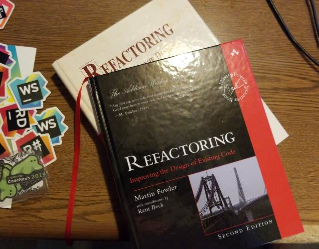 Screenshot of Refactoring 1st and 2nd Edition books by Martin Fowler