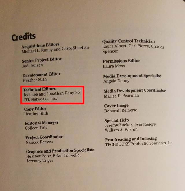 Server-side Flash Book displaying the Credits Page