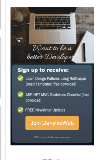 Subscription Graphic in Sidebar