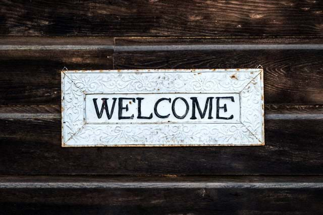 Chalkboard with Welcome on it